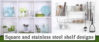 Stainless Steel Kitchen Shelves by 10 Uniquely Creative Ideas To Design Open Kitchen Shelves