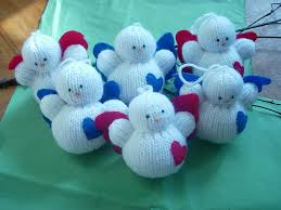 hand knitted christmas angel decorations decoration ideas