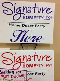 home decor party sign