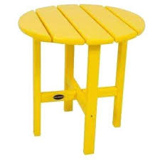 Yellow Side Table Uk Yellow Outdoor Side Tables Patio Tables The Home Depot Yellow Side