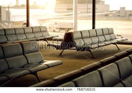 bench terminal airport waiting area chairs stock photo 768716515