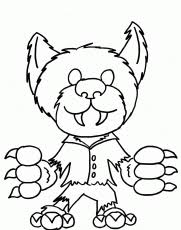 7 pics cartoon halloween monsters coloring pages cute