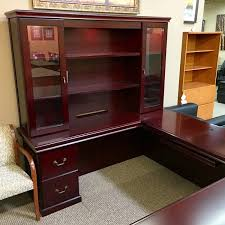 ofd it townsend 72x108 left u shaped executive desk with hutch