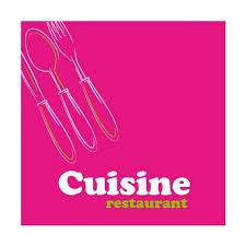 affiche cuisine sticker d enseigne pour cuisine avec couverts et texte