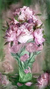The Pink Peonies by Flowers In Fancy Vases Series Pink Peonies In Peony Vase