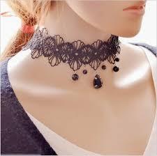 vintage lace necklace images Vintage lace choker gorgeous goth jpg