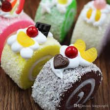 2017 simulation swiss roll fake cake dessert model for home
