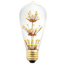 led fireworks classic edison light bulb 3w st64mtx judy lighting