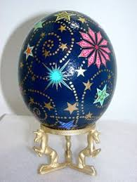 decorated ostrich eggs for sale our friend painted an ostrich egg chalk paint bliss