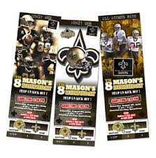 new orleans saints birthday party invitation ticket football