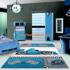 chambre f1 tapis pour chambre de garçon blue et gris speed voiture f1 speed