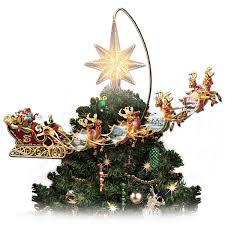 amazon com thomas kinkade holidays in motion rotating illuminated