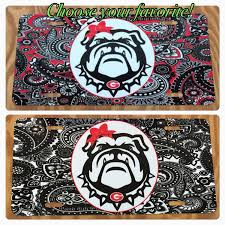 Georgia Flag License Plate Paisley Georgia Bulldogs License Plate Red Black Paisley