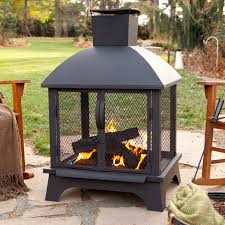 Cooking On A Chiminea Landmann Redford Outdoor Fireplace Hayneedle