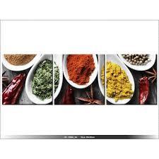 cuisine et saveur du monde 30 x 90cm epices saveurs du monde tableau multi panneaux
