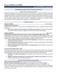 financial analyst resume exles realtor resume exles resume real estate analyst jobsxs