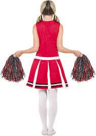 halloween costume cheerleader amazon com smiffy u0027s women u0027s cheerleader costume with dress and