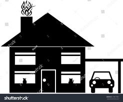 vector house car silhouette use design stock vector 218051992