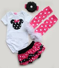 newborn infant baby headband romper leg warmer skirt