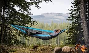 2 person lightweight portable nylon hammocks groupon