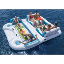 Inflatable Pool Floats by Giant 6 Person Inflatable Float Raft Pool Tropical Tahiti Ocean