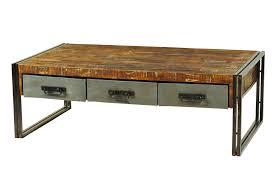 Distressed Wood End Table Random Photo Gallery Of Wood And Metal Coffee Table U2013 Rustic Wood