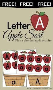 free letter a apple sort