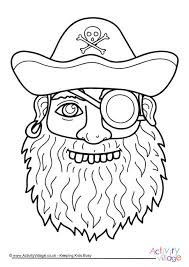 pirate colouring pages