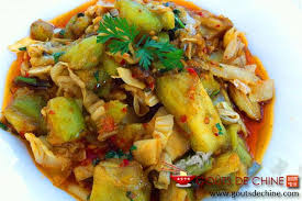 cuisiner le chou chinois cuit aubergine au chou chinois pime recette chinoise
