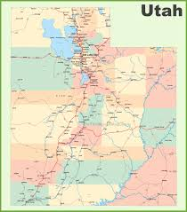 New York Map With Cities by Map Of Utah New York Map