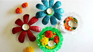 diwali decoration idea using only 2 plastic bottles youtube