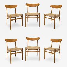Hansen Patio Furniture by Hans Wegner Set Of Six Hans Wegner Oak U0026 Teak Dining Chairs Made