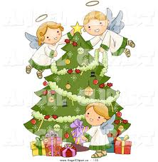angel tree free clipart 36