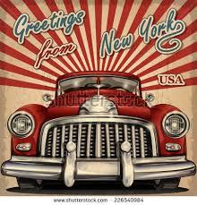 vector retro party brochure illustration vintage stock vector