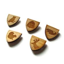 alumni pins wood tie pin set of 3 lapel pin bamboo wedding groom