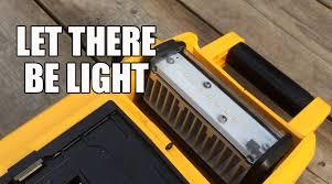 dewalt 20v area light dcl061 18v 20v max cordless corded led worklight youtube