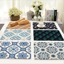 napperon de cuisine accueil décor nordique rayures napperon linge de table en tissu