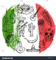 mexican cuisine culture vector images stock vector 488607214