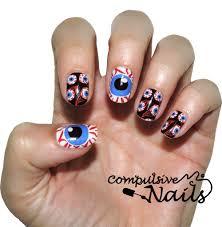 eye balls nail polish wraps nail stickers hand painted nail