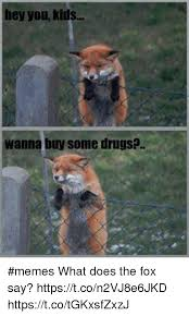 What Did The Fox Say Meme - hey you kids wanna buy some drugs memes what does the fox say