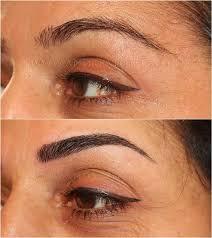 hair stroke eyebrows and eyeliner semi permanent makeup