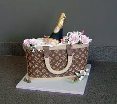 wonderfully chic and unique louis vuitton purse cake with