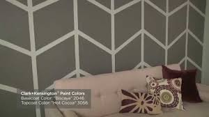 how to paint a herringbone wall pattern ace hardware youtube