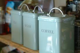 Blue Kitchen Canister Sets Garden Trading Set Of 3 Canisters Tea Coffee Sugar In