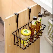 Cabinet Door Basket Kitchen Hanging Basket Seasoning Rack Kitchen Cabinet Door After