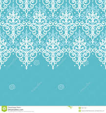 light blue swirls damask horizontal seamless pattern background