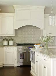 Houzz Kitchens Backsplashes - wide plank floors glazed subway backsplash simple cabinets and