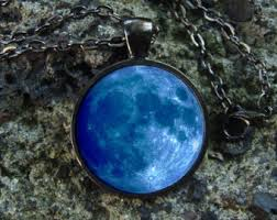 glow in the necklaces moon necklace etsy