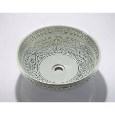 legion furniture vessel sink legion furniture porcelain sink bowl light green flower off white