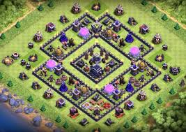 6 best town hall 9 farming base with bomb tower 2017 coc giants